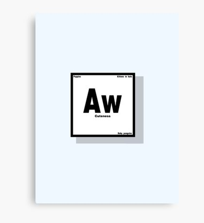 The Element of Cuteness Canvas Print