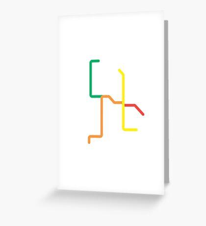 Mini Metros - Amsterdam, Netherlands Greeting Card