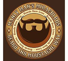 Manly Beard Wax Photographic Print
