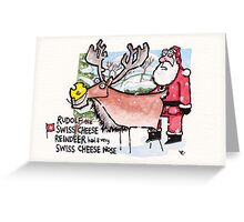 Swiss Cheese Nose Greeting Card