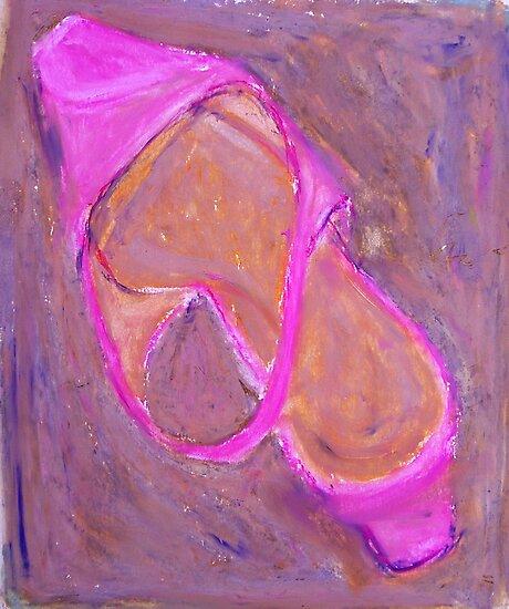 Pink Shoe in Pink by itzart