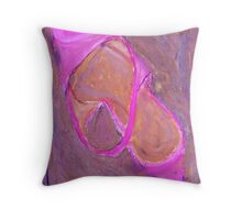 Pink Shoe in Pink Throw Pillow