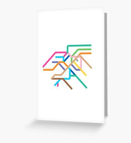 Mini Metros - Stuttgart, Germany Greeting Card
