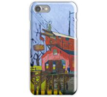 Canal Barn with Figure iPhone Case/Skin