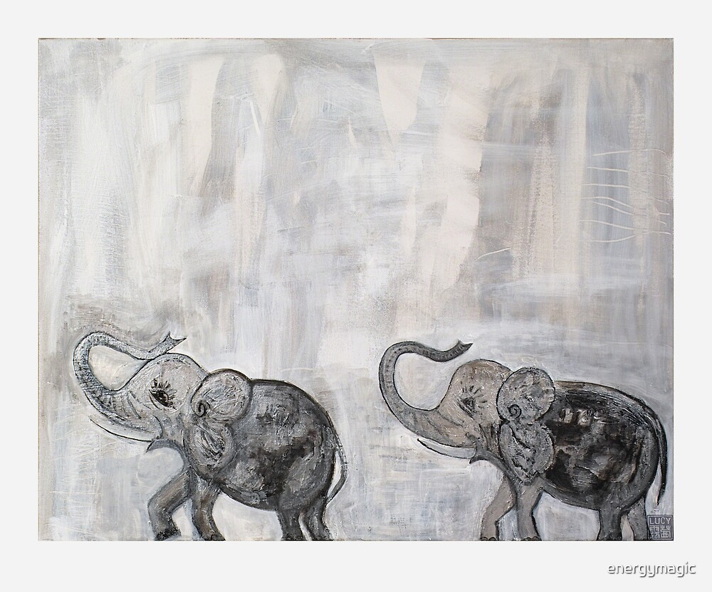Elephants by energymagic
