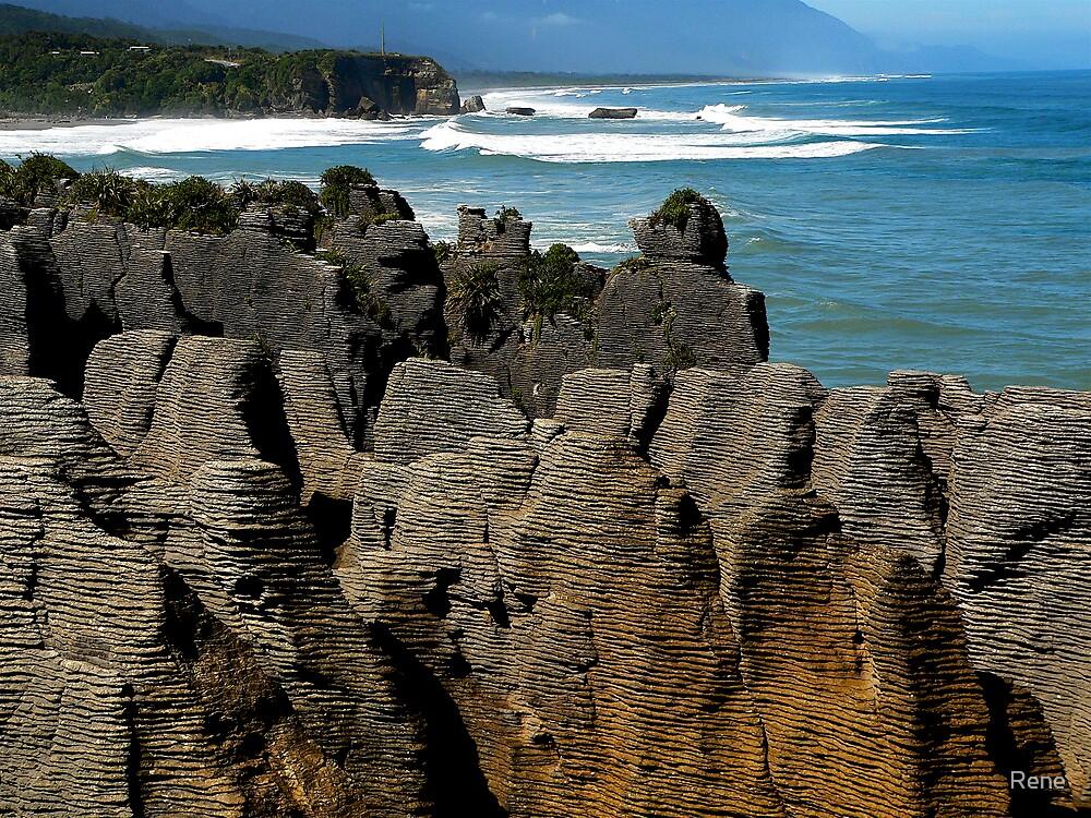 Punakaiki,South Island NZ by Rene
