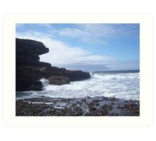 Sky, Rocks, Sea Art Print
