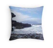 Sky, Rocks, Sea Throw Pillow