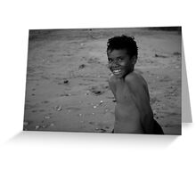 Beach local/Pearly Whites Greeting Card