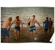 Bule Soccer Poster