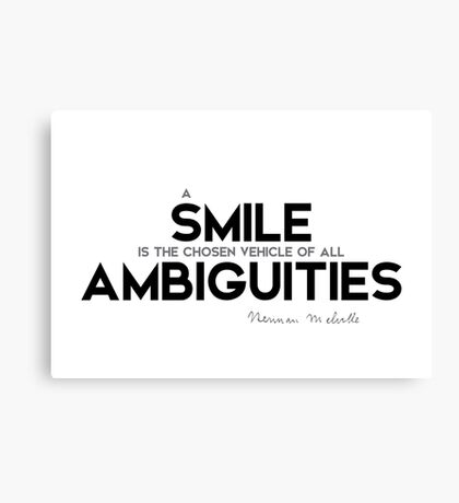 a smile, ambiguities - herman melville Canvas Print