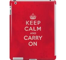 Keep Calm and Carry One Grunge Red Background iPad Case/Skin