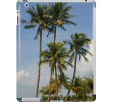 A palm lined beach in the tropics iPad Case/Skin