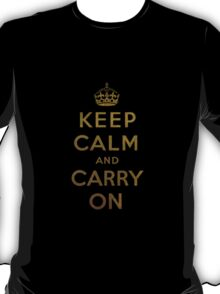 Keep Calm and Carry One Old Vintage Background T-Shirt