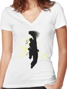 Punching the Dragon Women's Fitted V-Neck T-Shirt