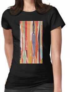 Abstract Vertical brush in MultiColor Womens Fitted T-Shirt