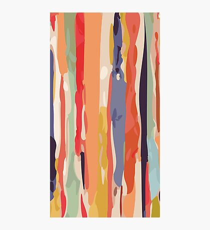 Abstract Vertical brush in MultiColor Photographic Print