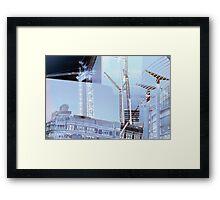 Cranes of Printworks Framed Print
