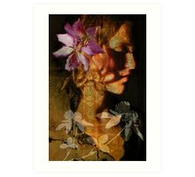 Flower in my head Art Print