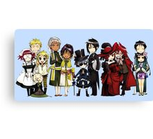 Black Butler Cast Canvas Print