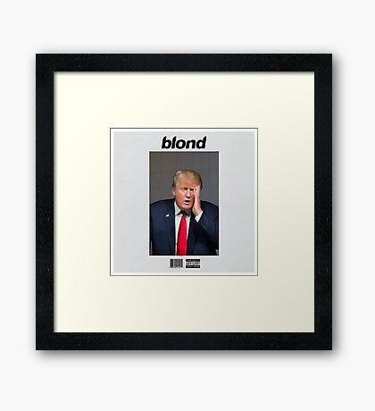 blond hair Framed Print