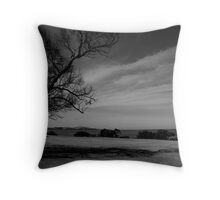 Trees in a field Throw Pillow