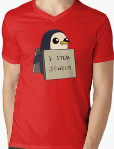 Adventure Time Gunter Mens V-Neck T-Shirt