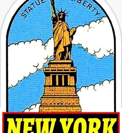 STATUE OF LIBERTY NEW YORK CITY ELLIS ISLAND VINTAGE TRAVEL Sticker