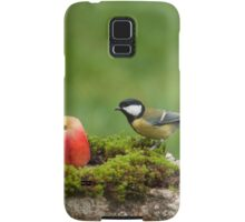 Great tit and a red apple Samsung Galaxy Case/Skin