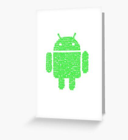 Binary-droidv2.0 Greeting Card