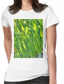 Morning Grass 3 Womens Fitted T-Shirt