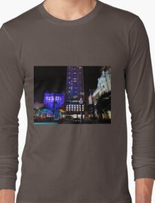 Lit up for the G20 meeting in Brisbane Long Sleeve T-Shirt