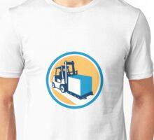 Forklift Truck Box Circle Retro Unisex T-Shirt