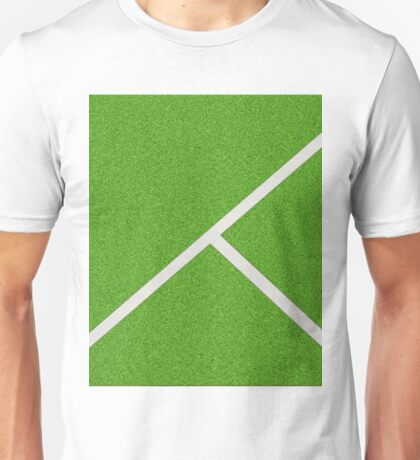 Top view of soccer field Unisex T-Shirt