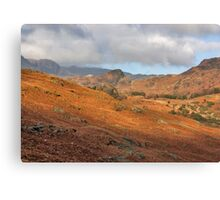 Langdale Fells  Canvas Print