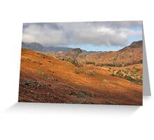 Langdale Fells  Greeting Card