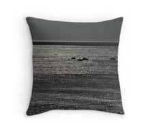 Shimmering seas Throw Pillow