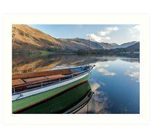 Sailing on Ullswater Art Print