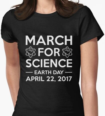 Science march Womens Fitted T-Shirt