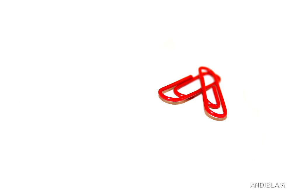 TWO RED PAPER ~ CLIPS by ANDIBLAIR