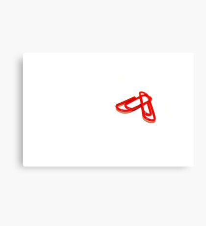 TWO RED PAPER ~ CLIPS Canvas Print