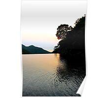 Falling Sun on Natural Pool - Hong Kong. Poster