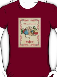 Love, Joy, PIE! Merry Christmas! Cute mouse illustration T-Shirt