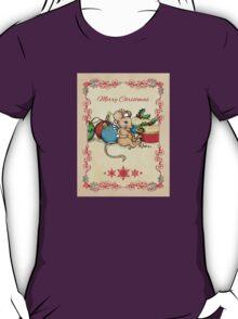 Love, Joy, PIE! Merry Christmas! Cute mouse illustration T-Shirt