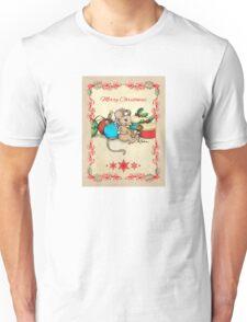 Love, Joy, PIE! Merry Christmas! Cute mouse illustration Unisex T-Shirt