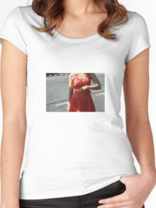 Pink Femininity 1 Women's Fitted Scoop T-Shirt