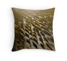Wet Textured Sand Throw Pillow