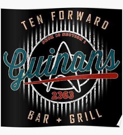 Guinan's Bar & Grill Ten Forward Retro Design Poster