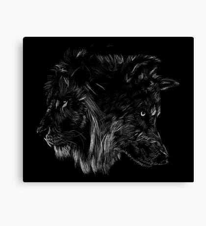 The Wolf is King Canvas Print