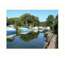 tranquil  river  view  Art Print